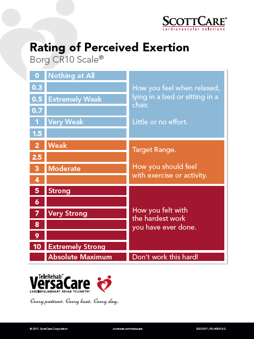 borg scale of perceived exertion pdf