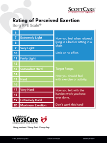 Rating of Perceived Exertion: Borg RPE Scale